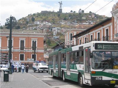 sophiscatd tram system in the city of Quito, Ecuador
