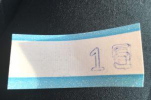 上車時從機器取的印有數字的票