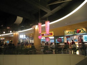 food court in apm shopping mall, kwun tong, hk