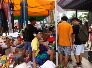 One of the resources centres with all stuff donated by Hong Kong people